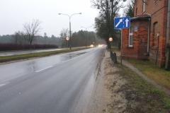 Początek trasy na ul. Warszawskiej.