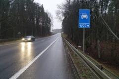 Długi podjazd przed zjazdem z DK51.